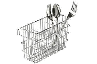 (1, Chrome) - Utensil Drying Rack, 3 Compartments, Chrome