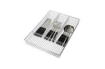 Home Basics Cutlery Holder Tray, Chrome