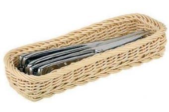 Paderno World Cuisine Polyrattan Rectangular Flatware/Bread Basket
