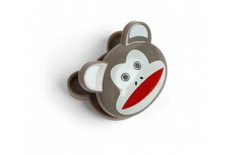 (Monkey) - Kikkerland ABS Monkey Bag Clip, Set of 6, Multi-Colour