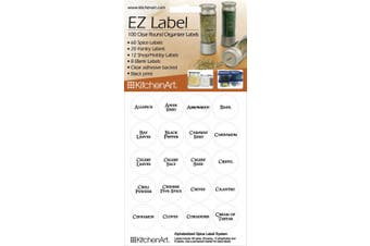 (100-Piece, White) - KitchenArt 17000 EZ Spice Label Set, 100-Piece, White