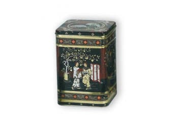 Black Jap Classic Tea Tin Caddy - 0.5kg - Height 14.5cm