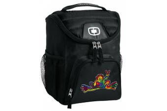 Peace Frogs Lunch Bag Insulated Lunch Cooler Black Super Cool - Best Size Lunchbox