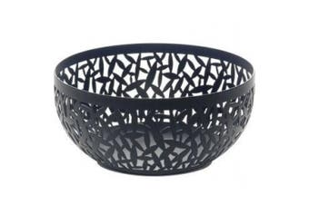 (Black, 21 cm) - Alessi Cactus Decorated Fruit Bowl, Stainless Steel and Epoxy Resin, Black, 21 cm