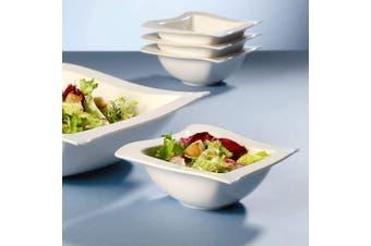 (Rectangular bowl (600 ml)) - Villeroy & Boch NewWave Bowl, Premium Porcelain, White