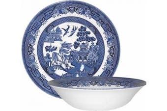 (24cm ) - Churchill China Blue Willow 24cm Salad Bowl