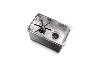 """(6X10"""" X 5.1cm , COUNTERTOP) - Espresso Parts EPPRCT6102 Counter Top Glass Rinser, 6X10"""" X 5.1cm , Stainless Steel"""