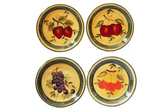 Tuscany Mixed Fruit 25cm Dinner Plate 4 Piece Set