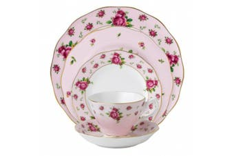 Royal Albert New Country Roses Pink Vintage Formal Place Setting, 5-Piece