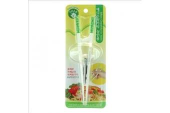 (1, Green, White) - Edison Training/helper Chopsticks for Right Handed Adult