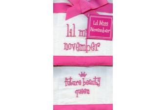 Lil Miss November Future Beauty Queen Baby Burp Cloths - Set of 2