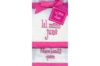 Lil Miss June Future Beauty Queen Baby Burp Cloths - Set of 2