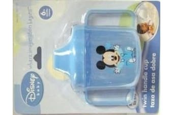 One Disney Baby Mickey, Mini, or Pluto Twin Handle Sippy Cup - Colour May Vary, Contact Seller for Boy or Girl Colours