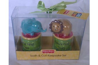 Fisher Price Luv U Zoo Tooth & Curl Keepsake Set