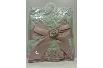 Bearington Baby Collection 40.6cm X 40.6cm Swirly Paisley Blankie Security Blanket - Baby Shower
