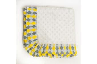 Pam Grace Creations Blanket, Argyle Giraffe