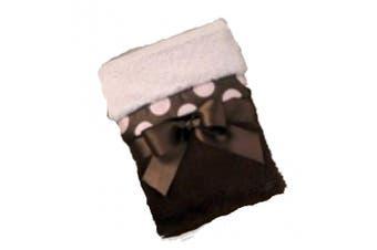 Bearington Baby Posh Dots Crib Blanket (Pink)
