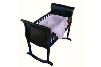 (15x33, Lavender Gingham) - Lavender Gingham Cradle Bedding-Size 15x33