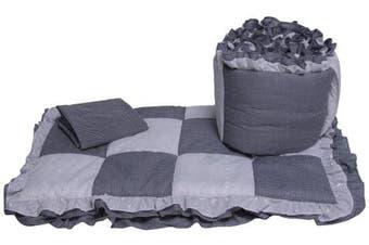 Baby Doll Bedding Gingham Cradle Bedding Set, Navy