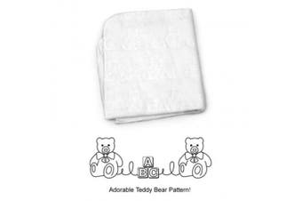 (Cradle Pad 46cm  x 90cm ) - American Baby Company Waterproof Embossed Quilt-Like Flat Crib Protective Pad Cover