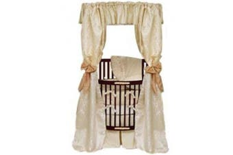 Baby Doll Bedding Sensation Canopy and Drapes for Round Crib, Gold