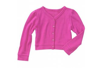 (6-9 Months) - Baby Boutique® Baby Girls' Pink Button Sweater Size: 6-9 months