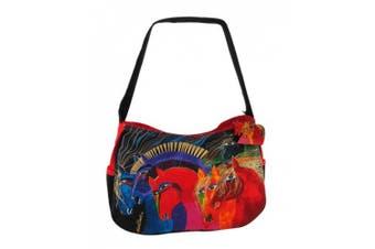(Wild Horses of Fire) - Laurel Burch Wild Horses of Fire Hobo Bag (Wild Horses of Fire)