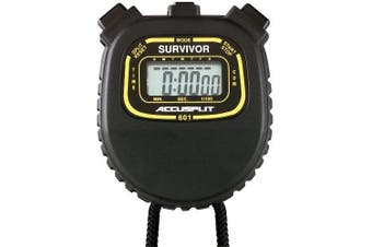ACCUSPLIT Survivor - S1XL Stopwatch, Cumulative Split, Clock (Black)