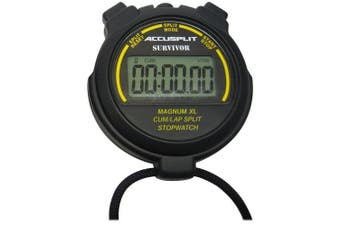 ACCUSPLIT Pro Survivor - S3CL Stopwatch, Cumulative or Lap Split, Extra Large Display