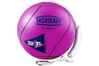 (Fluorescent Pink) - Tachikara STBR-P extra soft tetherball (pink).