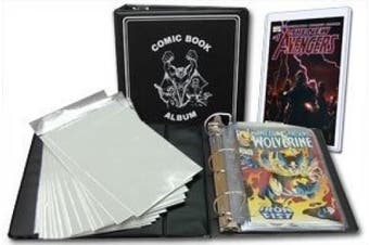 BCW Comic Book Collector Starter Kit (Comes with Album, Pages, Bags, Backing Boards)
