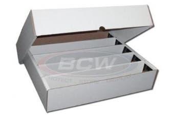 BCW FULL LID Super Monster 5 Row Storage Box (5000 Ct.) - Corrugated Cardboard Storage Box - Baseball, Football, Basketball, Hockey, NASCAR, Sportscards, Gaming & Trading Cards Collecting Supplies