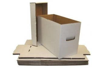 (5) BCW Brand SHORT Comic Storage Box - Holds 150 - 175 Comic Books - CXBCSHORT