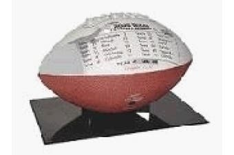 """BallQube """"The Stand"""" Football Display - Made in U.S.A."""
