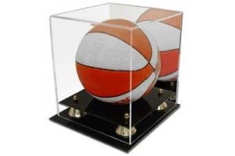 Collectible Deluxe Acrylic NBA - NCAA Mini Basketball Display Case - With Mirror