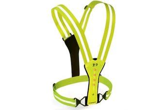 (Bright Green) - Amphipod Xinglet Flash LED Runner's Vest High Visibility Green