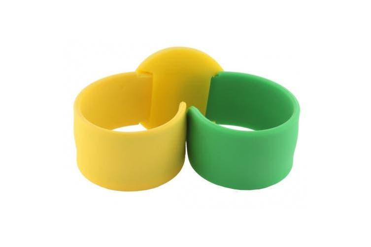 TKO ORLOGI Women's TK589-GYG Green and Yellow Rubber Slap Watch
