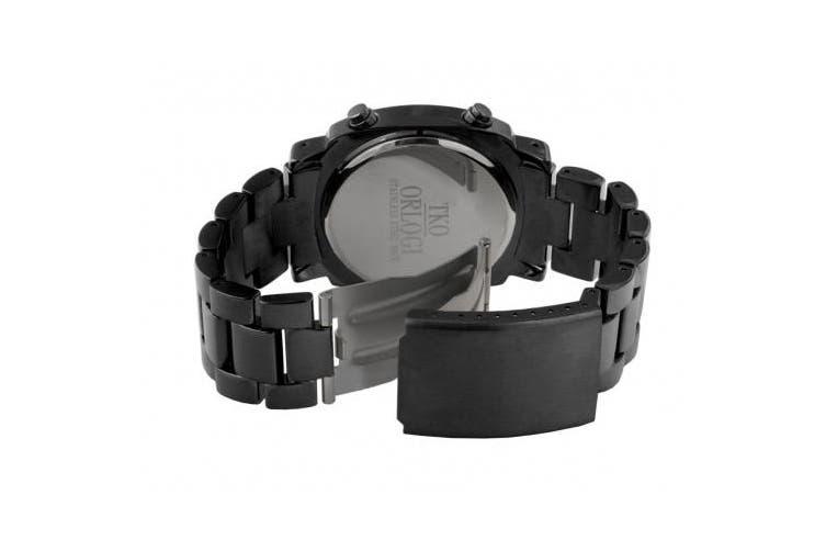 TKO ORLOGI Women's TK574-BK Digi-Metal Black Metal LED Watch