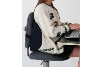 (black) - Lumbar Support Cushion - Grey colour, this lumbar support office chair back cushion helps the lumbar and sacral region of the spinal column. This Lumbar support helps to keep a good posture while sitting and also prevent to any kind of spinal