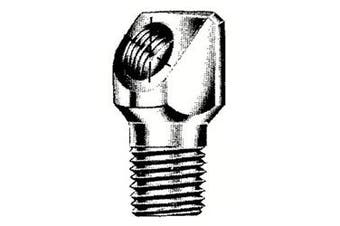 Alemite 43718 Elbow Body Adapter, 90 Degree Angle, Length 3cm , Shank Length 1.6cm , 0.6cm Male PTF SAE Short x 0.3cm Female NPTF