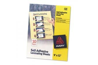 Avery Self-Adhesive Laminating Sheets 23cm x 30cm 10/Pkg