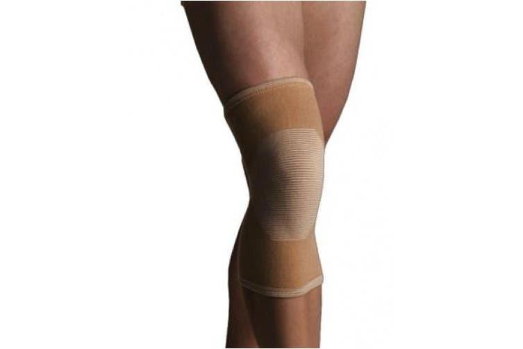 (Medium) - Thermoskin 4-Way Elastic Knee Support, Beige, Medium