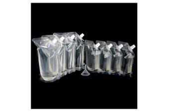 Blasani Concealable Cruise Ship Rum Sneak Flask Set (4x16oz, 4x8oz)