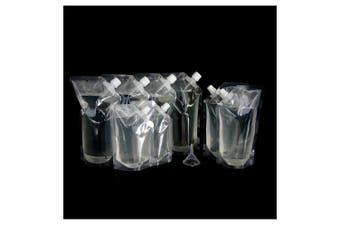 Blasani Concealable Cruise Ship Rum Sneak Flask Set (4x32oz, 2x16oz, 2x8oz)