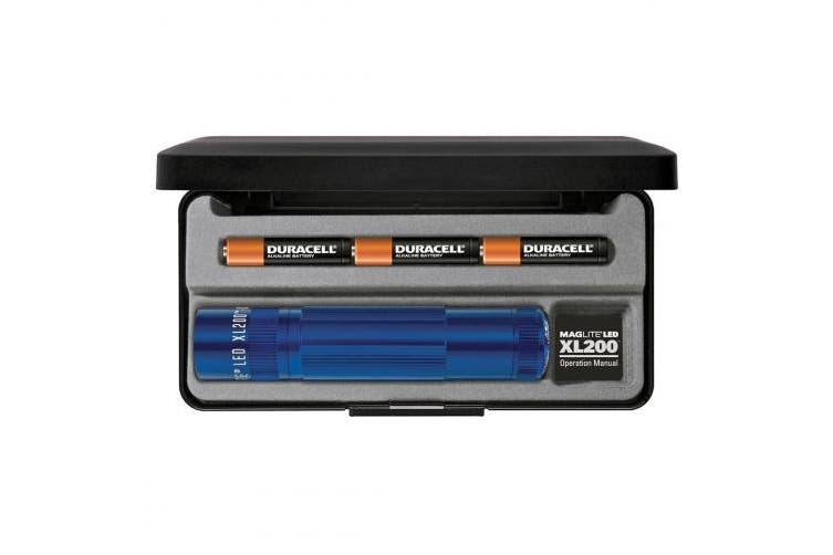 (blue) - Maglite XL200 Torch Set Batteries Included LR03-AAA 12.2 cm Blue