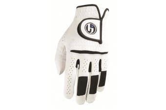 (Cadet Medium/Large, Worn on Left Hand) - HJ Glove Men's Snow White Durasoft Golf Glove, Medium/Large, Cadet Left Hand