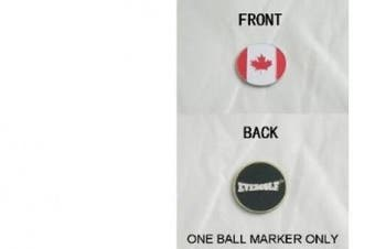 Canadian Flag Double Sided Ball Marker
