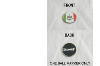 Mexican Flag Double Sided Ball Marker