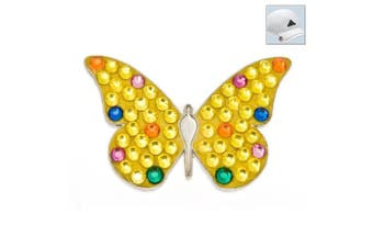 Bonjoc. Crystal Golf Ball Marker & Hat Clip - Yellow Butterfly