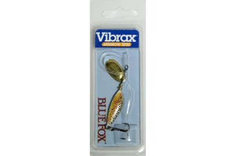 (Brown Trout/Gold, 1 - 1/8 oz) - Rapala Blue Fox Super Vibrax Size 60ml Minnow Spin, Silver